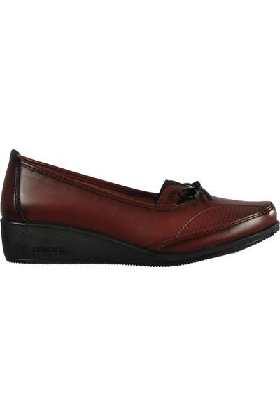 Wanetti 325 Bordo Kadın Günlük Ayakkabı