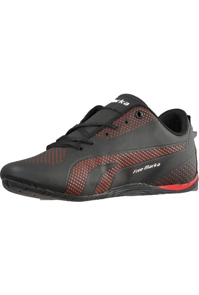 Free Marka 6040 Siyah-Kırmızı Erkek Spor Ayakkabı