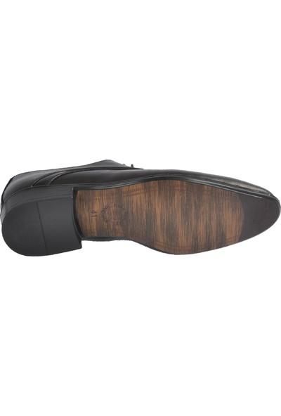 Voyager 4675 Hakiki Deri Siyah Erkek Ayakkabı