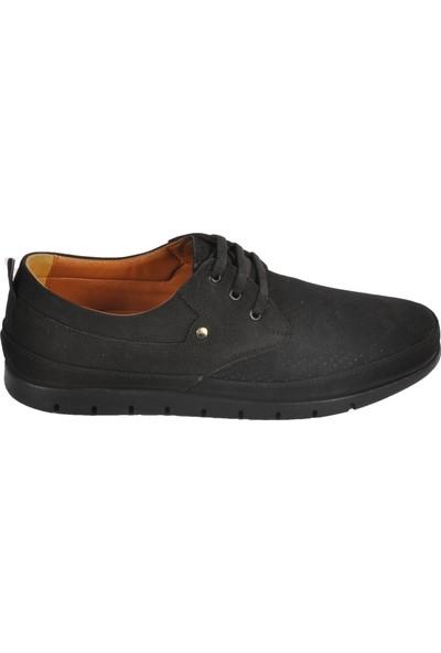 Ayakmod 2035 Hakiki Deri Nubuk Siyah Erkek Ayakkabı