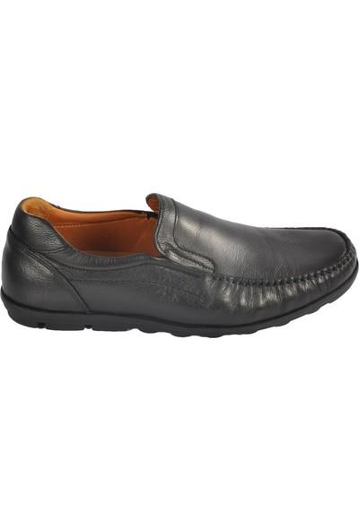 Ayakmod 9104 Hakiki Deri Siyah Erkek Ayakkabı