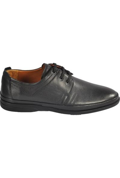 Ayakmod 2031 Hakiki Deri Siyah Erkek Günlük Ayakkabı
