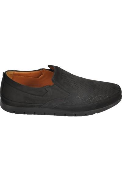 Ayakmod 2034 Hakiki Deri Siyah-Nubuk Erkek Ayakkabı