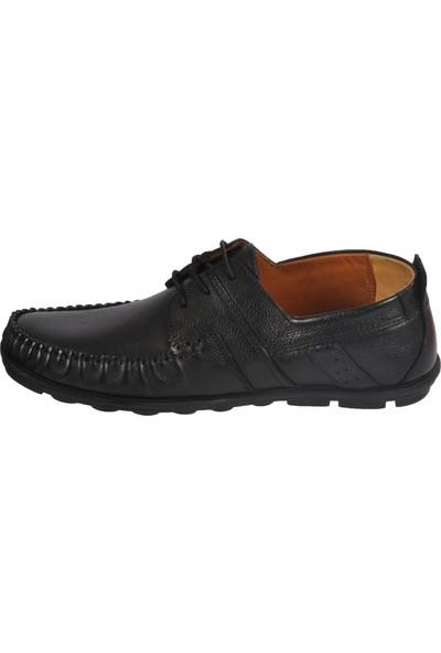 Ayakmod 9105 Hakiki Deri Siyah Erkek Günlük Ayakkabı