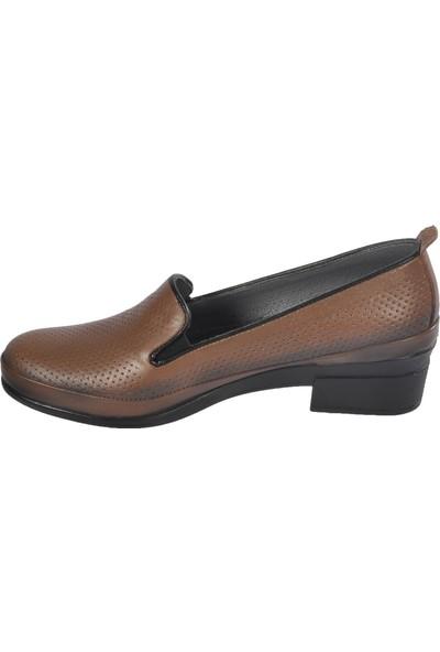 Castle Black 4552 Füme Günlük Kadın Hakiki Deri Ayakkabı