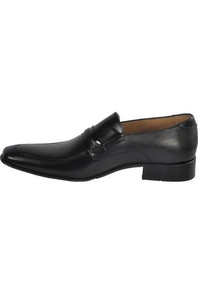 Tek Yıldız 1038 Siyah Erkek Hakiki Deri Klasik Ayakkabı