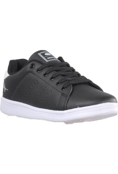 Bestof 041 Siyah-Beyaz Erkek Spor Ayakkabı