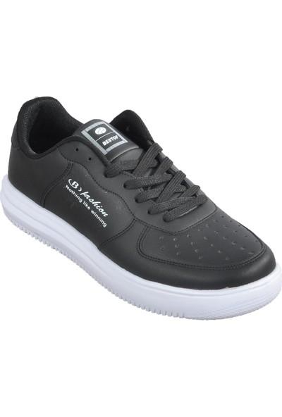 Bestof 042 Siyah-Beyaz Erkek Spor Ayakkabı