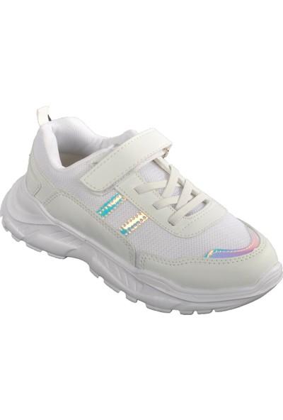 Cool 20-S01 Beyaz-Gümüş Çocuk Spor Ayakkabı