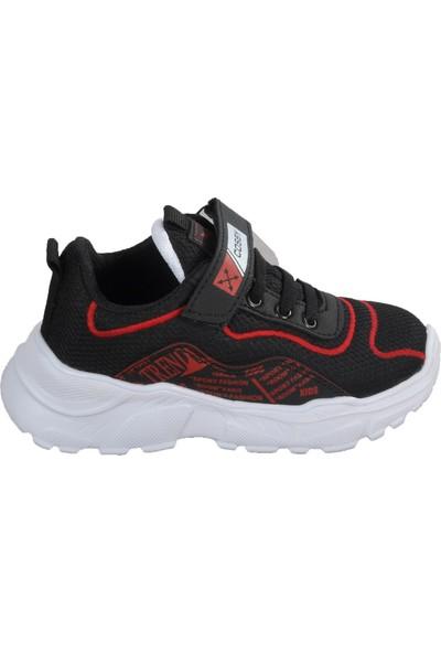 Cosby 306 Siyah-Kırmızı Çocuk Spor Ayakkabı