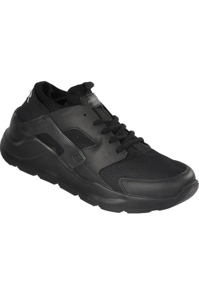 Bestof 048 Siyah-Siyah Erkek Spor Ayakkabı