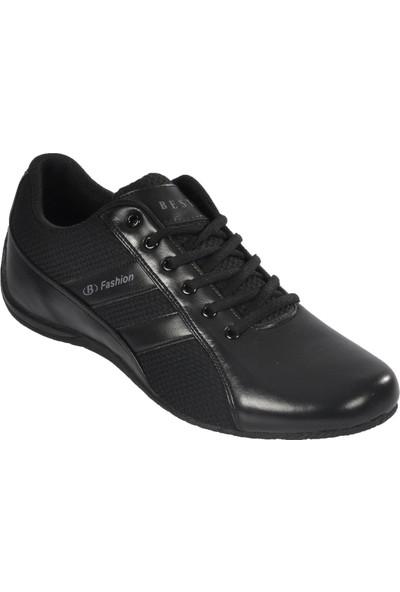 Bestof 060 Siyah-Siyah Erkek Spor Ayakkabı