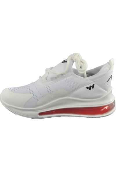 Walkway Walk Air 720 Beyaz-Kırmızı Erkek Spor Ayakkabı