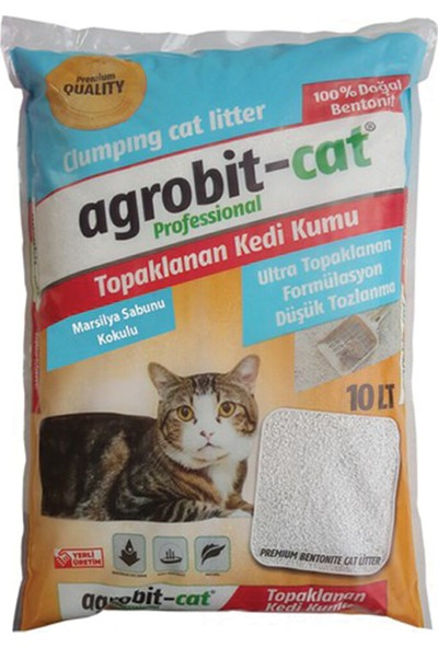 Agrobit Cat Marsilya Sabunlu Doğal Kedi Kumu 10 Lt
