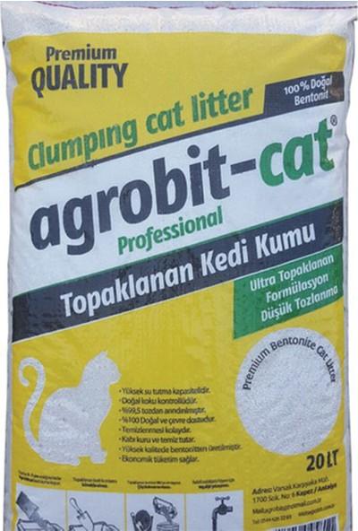 Agrobit Cat Doğal Bentonit Kokusuz Kedi Kumu 20 Lt