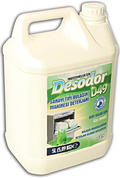 Desodor D49 Sanayi Tipi Bulaşık Makinesi Deterjanı 5 lt