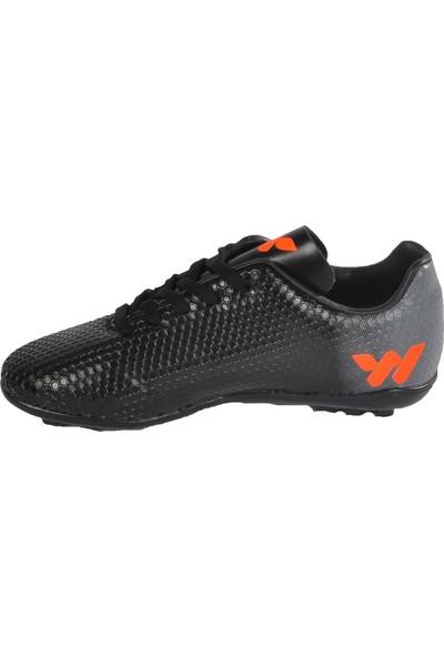 Walkway 023 Siyah-Turuncu Erkek Halı Saha Ayakkabı