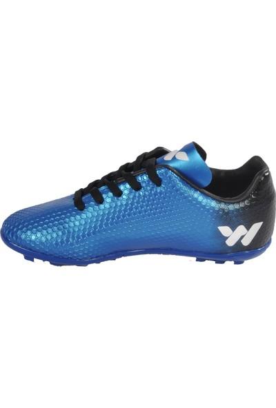 Walkway 023 Mavi-Beyaz Erkek Halı Saha Ayakkabı