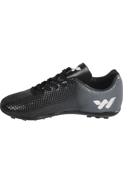 Walkway 023 Siyah-Beyaz Erkek Halı Saha Ayakkabı