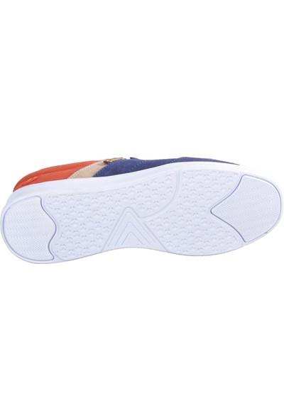 Dakır'S 24 Keten Lacivert-Kırmızı Erkek Ayakkabı