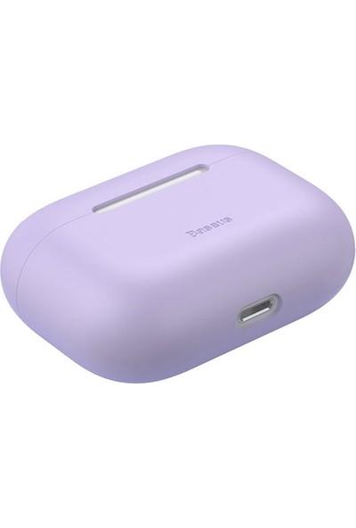 Baseus Super Thin Silica Gel Apple AirPods Pro İnce Silikon Kılıf WIAPPOD-ABZ0S - Mor