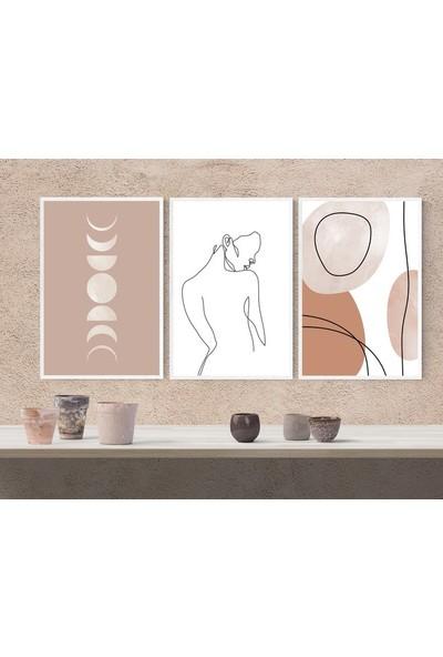 Hepsi Home Abstract 3'Lü Çerçeveli Tablo 50 X 70 Cm