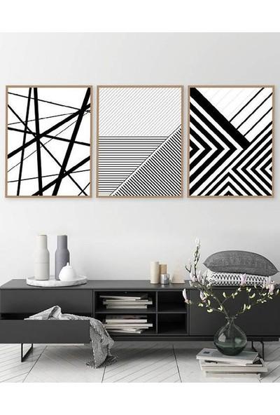 Hepsi Home Geometrik 3'Lü Çerçeveli Tablo 50 X 70 Cm