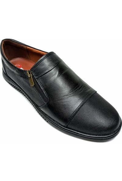 Flies Deri Erkek Ayakkabı Siyah