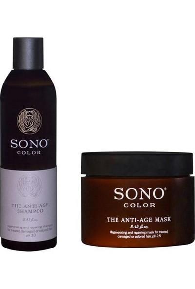 Sono Color The Anti - Age Şampuan 250 ml + Maske 250 ml