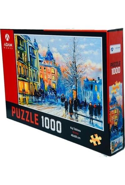 Adam Games 1000 Parça Puzzle - Kış Tablosu