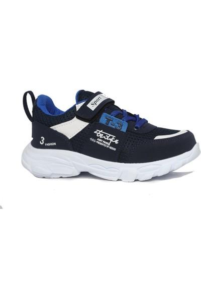 Minicup 41 Mavi Cırtlı Erkek Çocuk Spor Ayakkabı