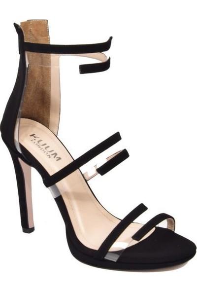 Kuum K11432 Siyah Süet Kadın Ayakkabı