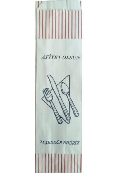 Ake Kağıt Çatal Kaşık Bıçak Kılıfı Baskılı Düz Baskılı 7 x 27 x 4,5 cm 5 kg 1.500'lü