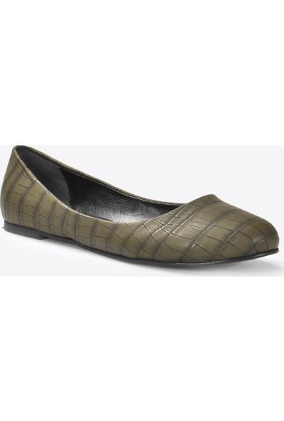 Vizon Kadın Yeşil-Kroko Babet VZN20-071Y