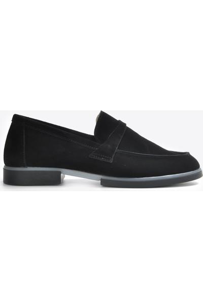 Vizon Kadın Siyah-Süet Günlük Ayakkabı VZN20-063Y