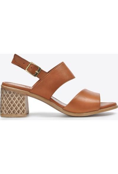 Vizon Kadın Taba Sandalet VZN20-078Y