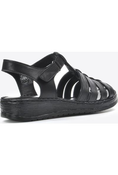 Vizon Kadın Siyah Sandalet VZN20-080Y