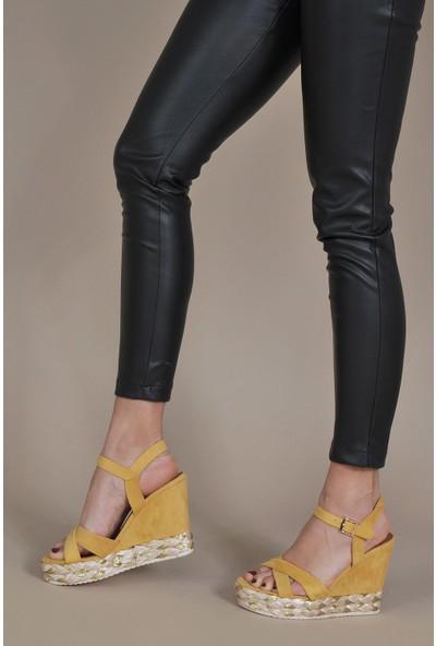 Vizon Kadın Sarı Sandalet VZN20-102Y