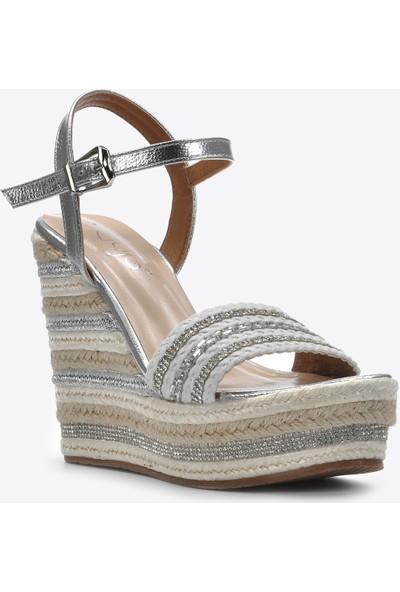 Vizon Kadın Gümüş Sandalet VZN20-106Y