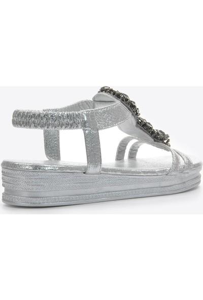 Vizon Kadın Gümüş Sandalet VZN20-109Y