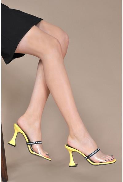Vizon Kadın Sarı-Rugan Terlik VZN20-074Y