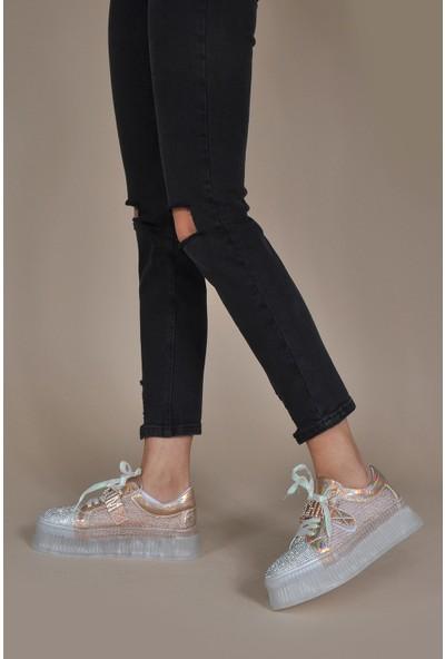 Vizon Kadın Altın Sneaker VZN20-100Y