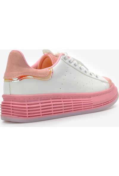 Vizon Kadın Beyaz-Pudra Spor Ayakkabı VZN20-073Y