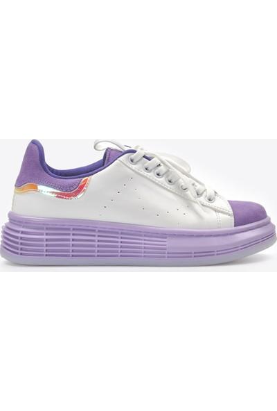 Vizon Kadın Beyaz-Lila Spor Ayakkabı VZN20-073Y