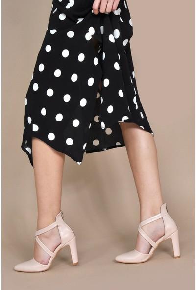 Vizon Kadın Ten-Cilt Klasik Topuklu Ayakkabı VZN20-066Y