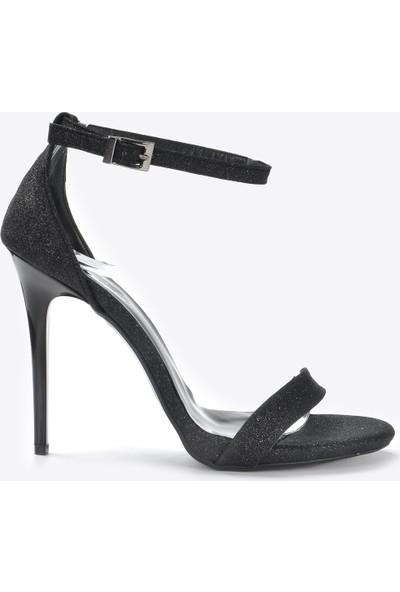 Vizon Kadın Siyah-Sim Klasik Topuklu Ayakkabı VZN20-072Y