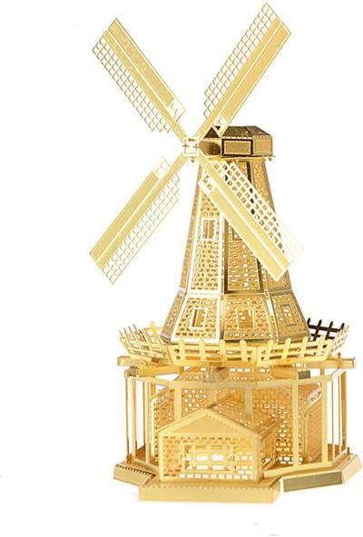 Soico Maket Model Metal Kits Yel Degirmeni Altın Rengi