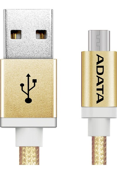 ADATA Micro USB 1MT. Şarj Kablosu Gold Alüminyum (android)