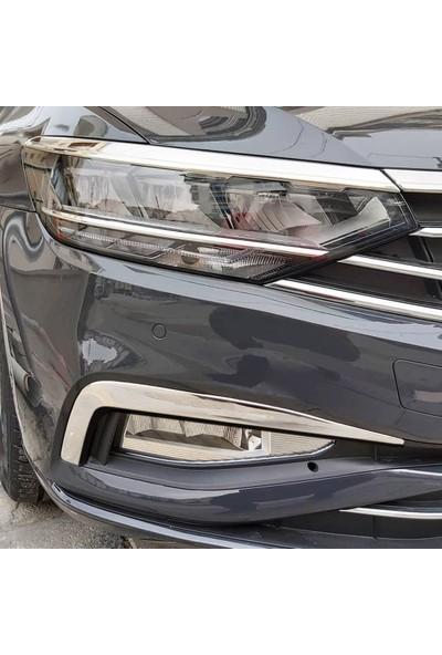 S-Dizayn VW Passat B8.5 Krom Sis Farı Çerçevesi 2 Parça 2019 ve Üzeri