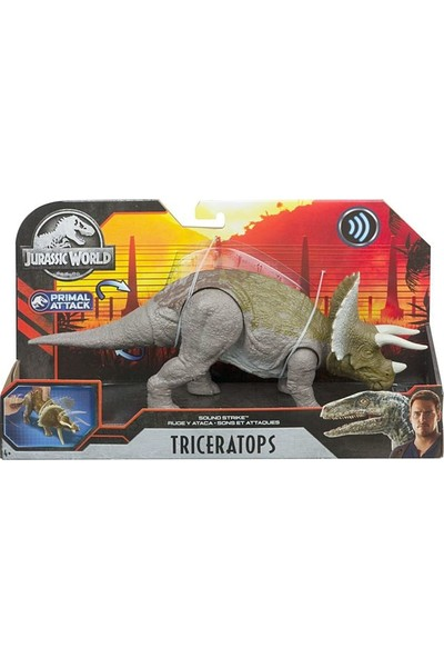 Jurassic World Sesli Dinozorlar Triceratop GJN64 - GJN65